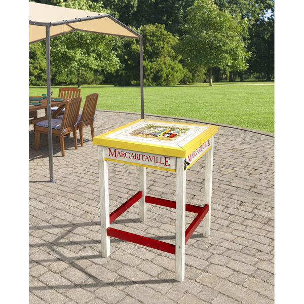 Red Bistro Table with Beverage Tub, image 3
