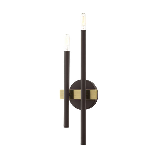 Denmark Bronze and Antique Brass Four-Light  Wall Sconce, image 1