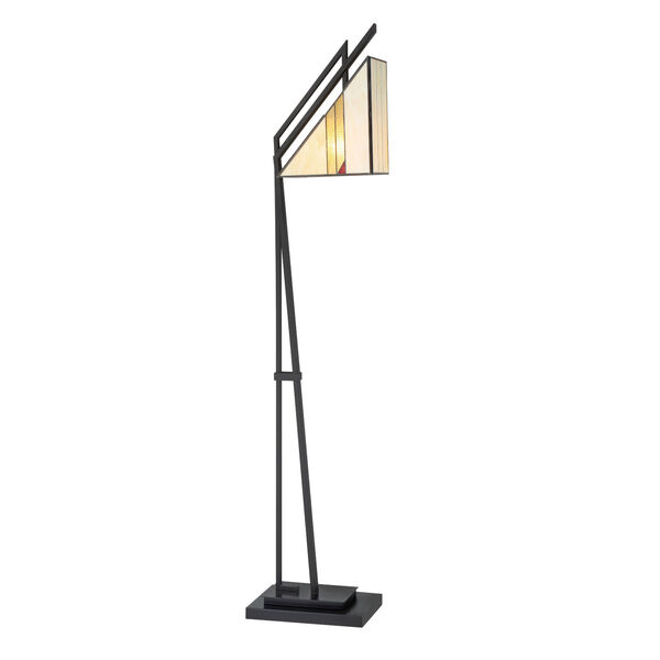 Verda Black One-Light Floor Lamp, image 1
