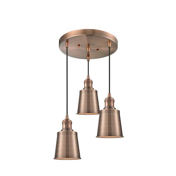 Addison Antique Copper Three-Light Pendant, image 1