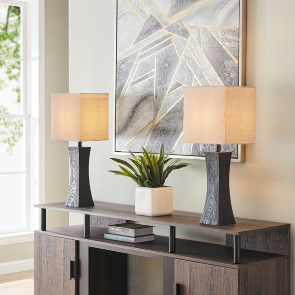 Enkel Dark Walnut Two-Light Table Lamp, Set of Two, image 3