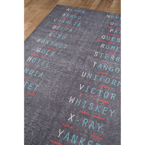 District Charcoal Rectangular: 7 Ft. 6 In. x 9 Ft. 6 In. Rug, image 3
