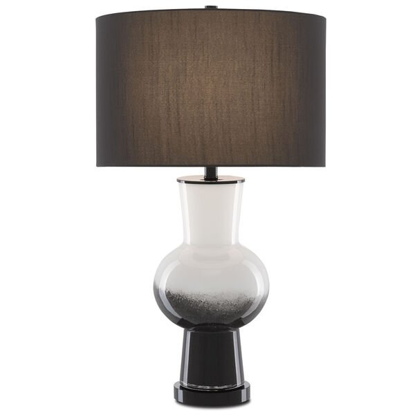 Duende White and Glossy Black One-Light Table Lamp, image 2