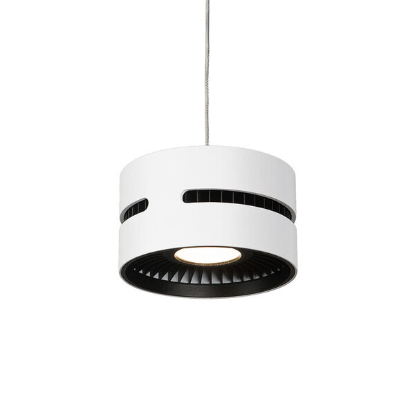 White and Black One-Light LED Mini-Pendant, image 1