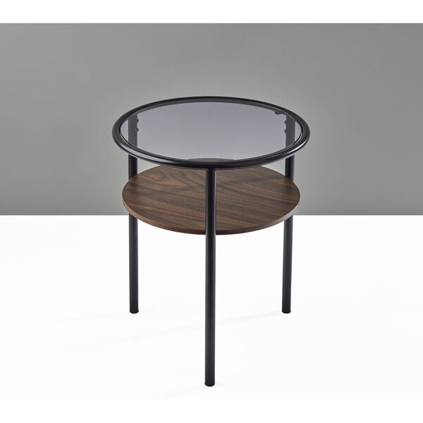 Gavin Black and Walnut Two-Tiered End Table, image 4