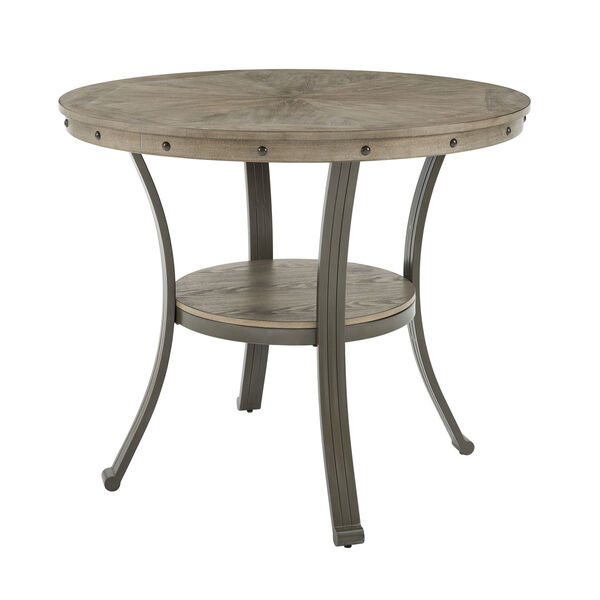 Elizabeth Pewter Counter Height Round Pub Table, image 4