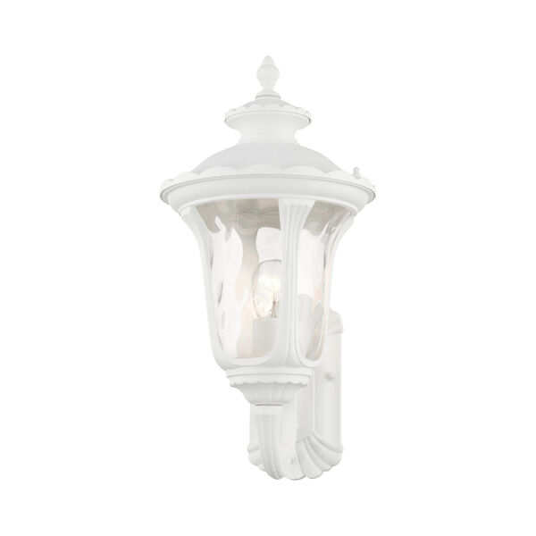 Oxford Textured White 10-Inch One-Light Outdoor Wall Lantern, image 3