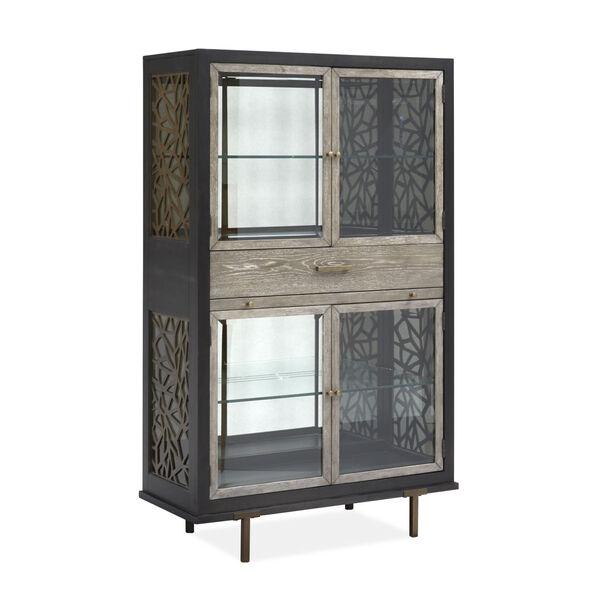 Ryker Black Display Cabinet, image 1