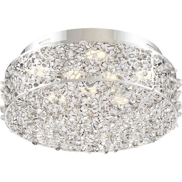 Platinum Collection Starlet Polished Chrome LED Flush Mount, image 3