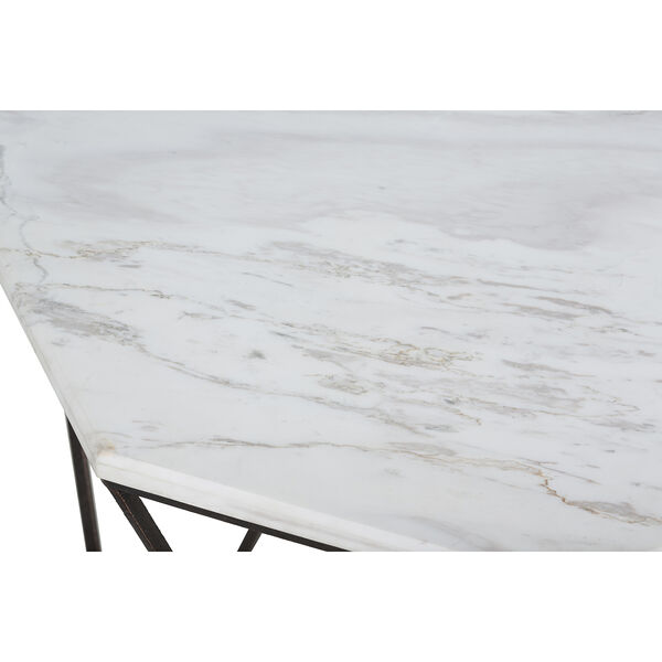 Kingstone Volakas Marble And Dark Bronze End Table, image 5