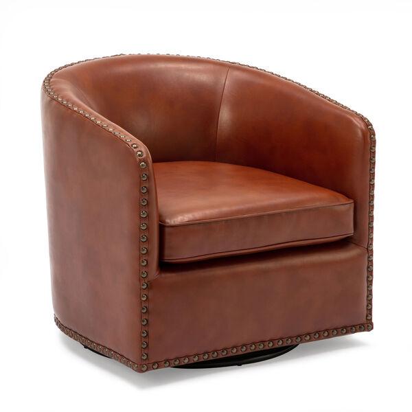 Tyler Caramel Swivel Arm Chair, image 4