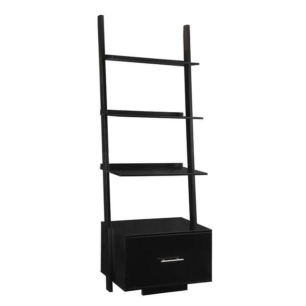 American Heritage Black Ladder Bookshelf, image 1