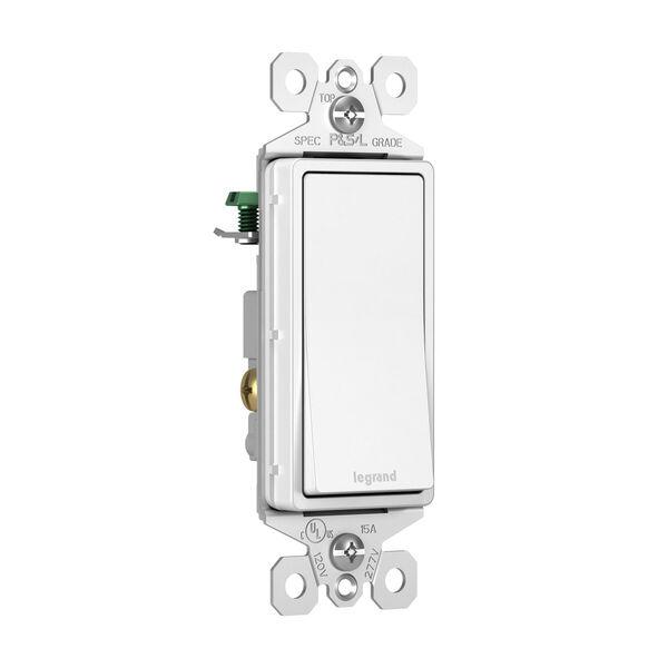 White 15A Single Pole Switch, image 2