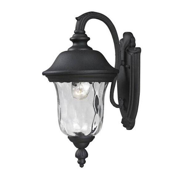Armstrong One-Light Black Outdoor Wall Light, image 1