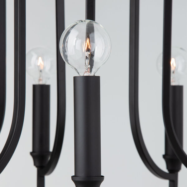 HomePlace Reeves Matte Black Six-Light Chandelier, image 5
