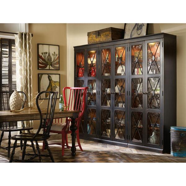 Sanctuary Two-Door Thin Display Cabinet - Ebony, image 3