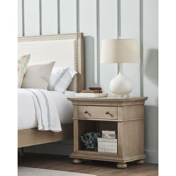 Brown One-Drawer Wood Nightstand, image 3