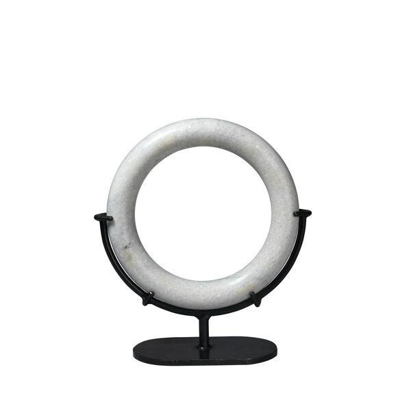 White Marble 5.5-Inch Medium Marble Ring, image 1