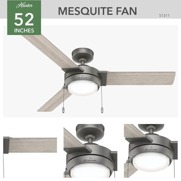 Mesquite Matte Silver 52-Inch LED Ceiling Fan, image 3