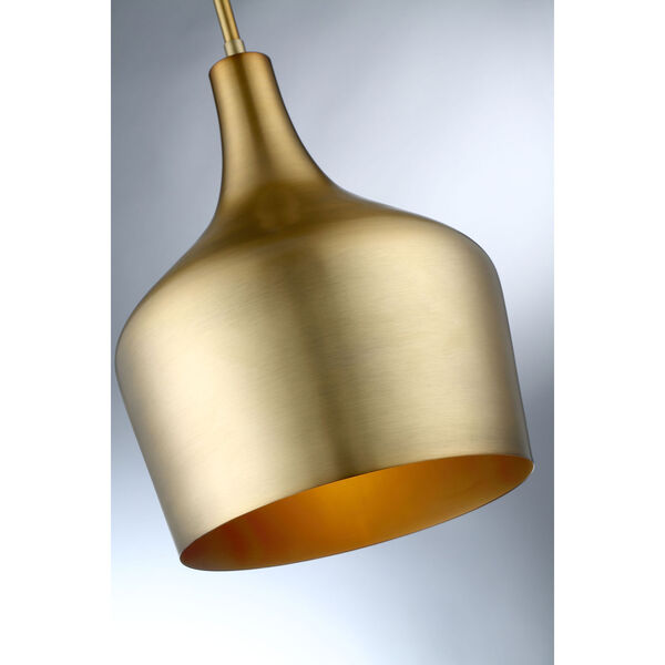 Uptown Natural Brass One-Light Pendant, image 3