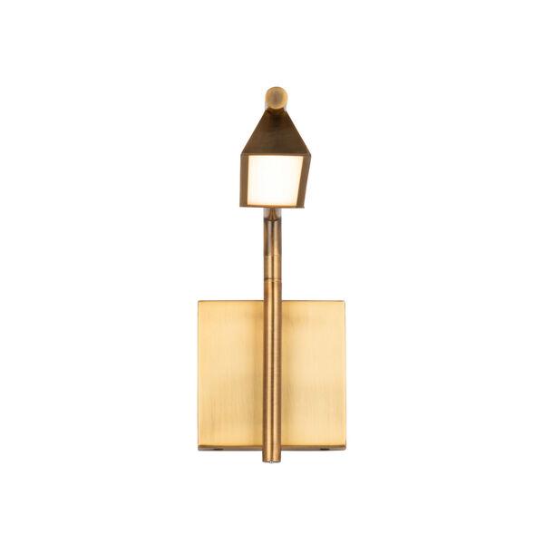 Eero Aged Brass LED Swing Arm Wall Light, image 2
