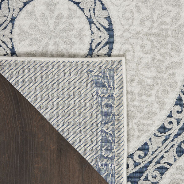 Calobra White and Blue Indoor/Outdoor Area Rug, image 3