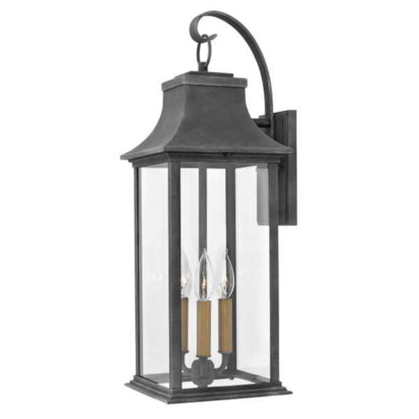 Adair Aged Zinc Nine-Inch Two-Light Led Outdoor Wall Mount, image 1