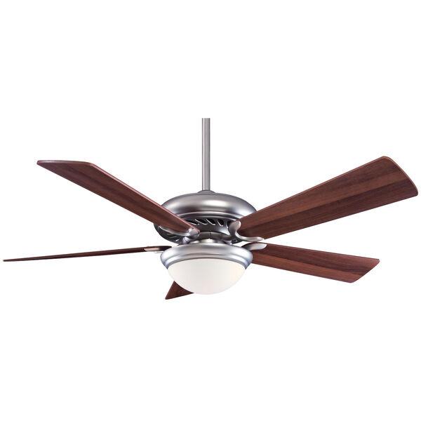 Supra Brushed Steel and Dark Walnut 52-Inch LED Ceiling Fan, image 1