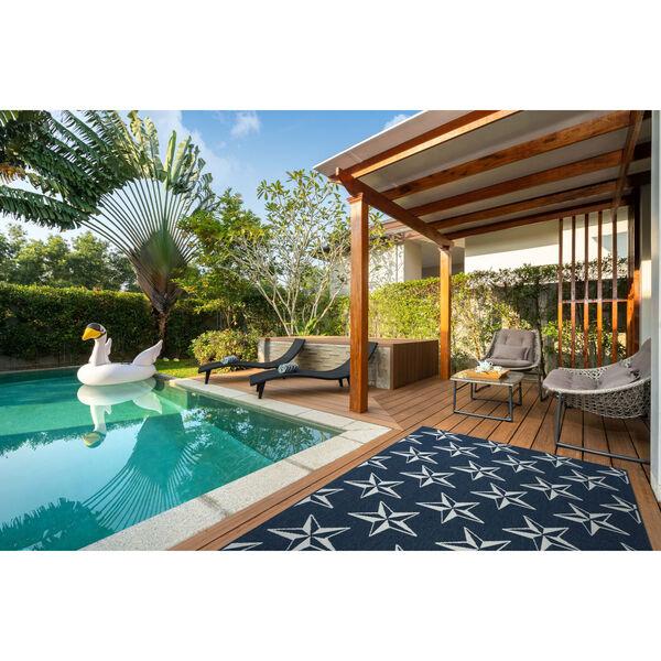 Puerto Navy Star Indoor/Outdoor Rug, image 2
