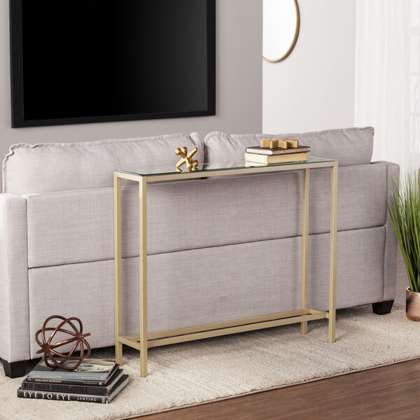 Darrin Metallic Gold 36-Inch Console Table, image 3