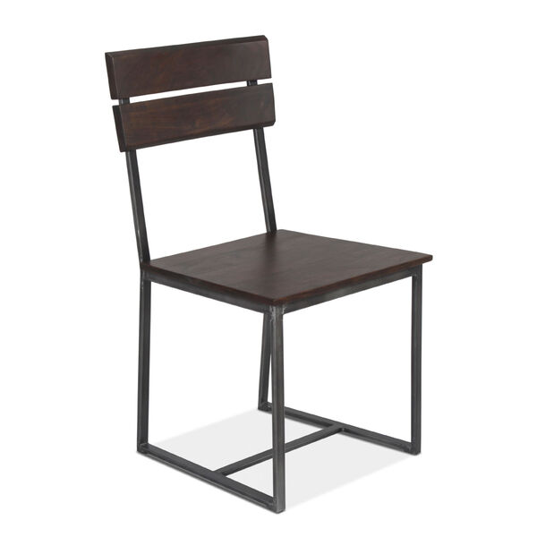 Augusta Dark Brown and Gray Dining Chair, Set of 2, image 2