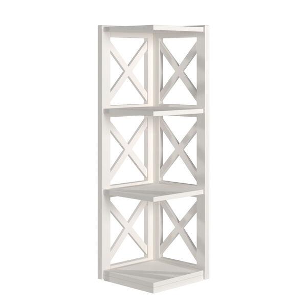 Tanya White X-Frame Three-Shelve Bookcase, image 1