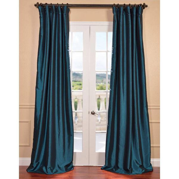 Mediterranean 108 x 50-Inch Blackout Faux Silk Taffeta Curtain Single Panel, image 1