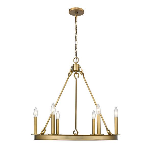 Barclay Olde Brass Six-Light Chandelier, image 4