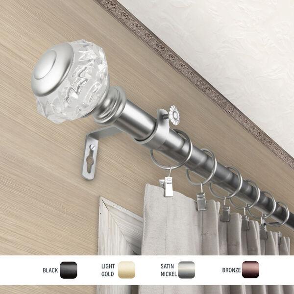 Inez Satin Nickel 120-170 Inch Curtain Rod, image 3