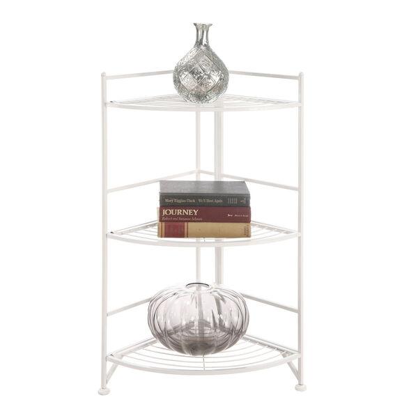 3 Tier Corner Folding Metal Corner Shelf, image 2