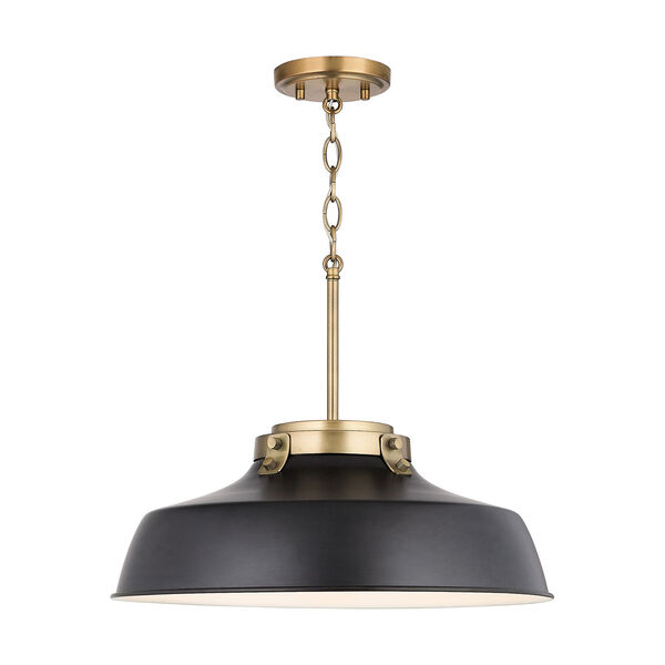 Oakwood Matte Black One-Light Pendant, image 1