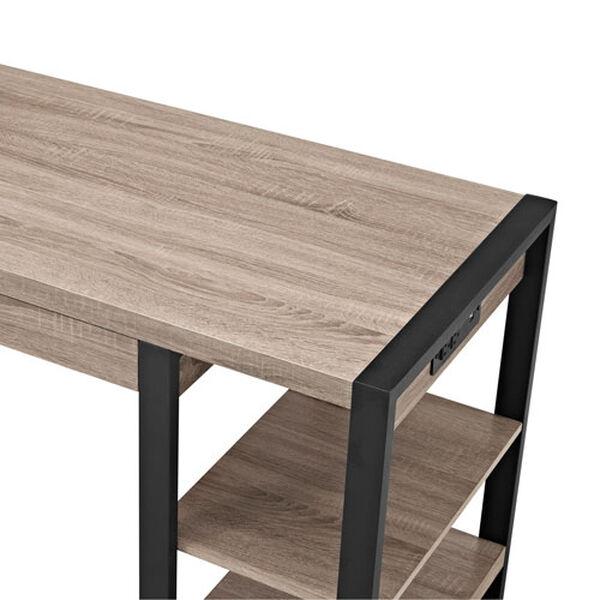 Urban Blend Grey 60-Inch Storage Desk, image 5