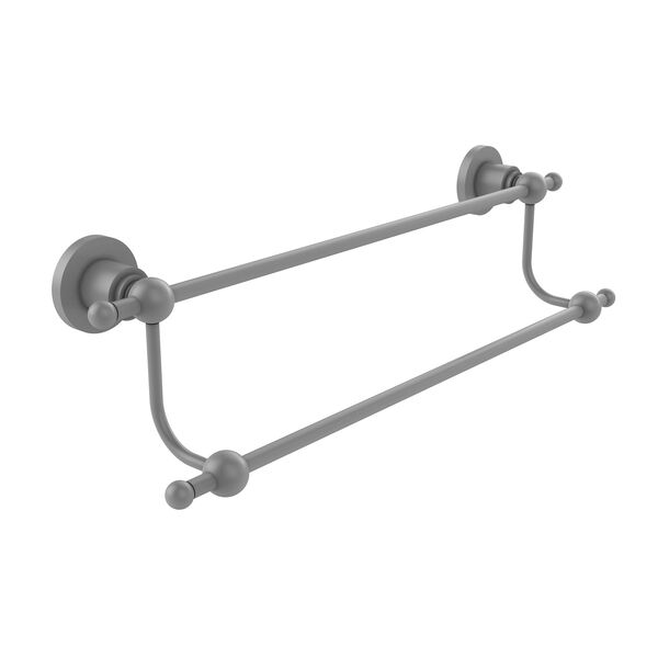 Astor Place Matte Gray 18-Inch Double Towel Bar, image 1