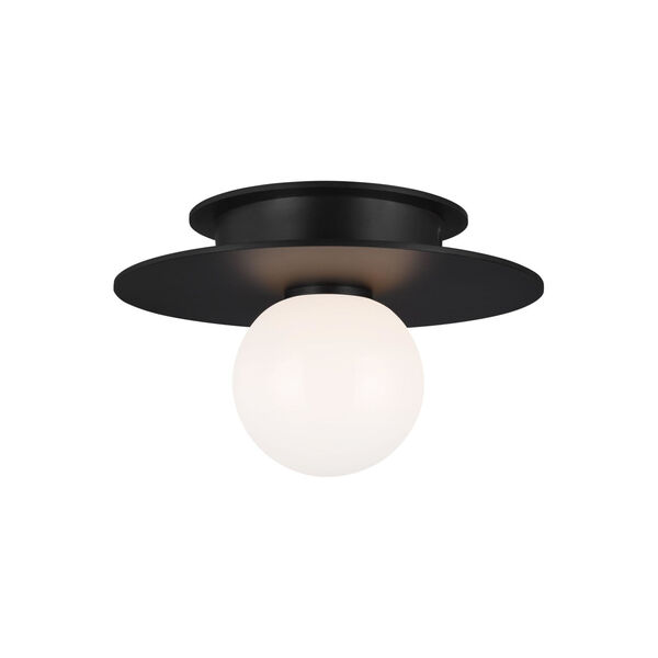 Nodes Midnight Black 8-Inch One-Light Flush Mount, image 2