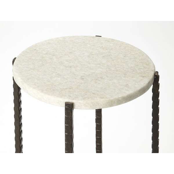 Butler Loft Marble and Metal Nigella Round Accent Table, image 2