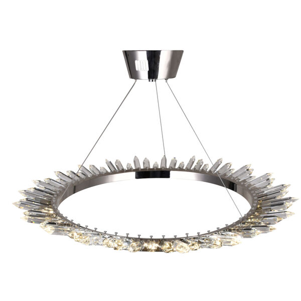 Arctic Queen Polished Nickel 32-Inch LED Chandelier, image 3
