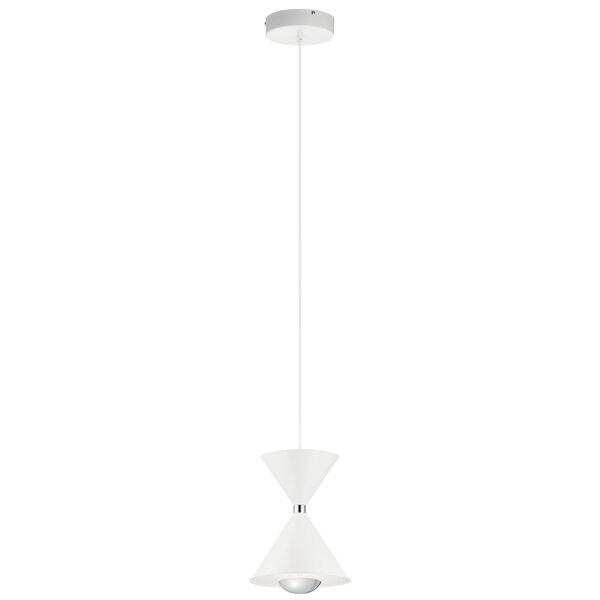 Kordan Matte White Eight-Inch LED Mini Pendant, image 1