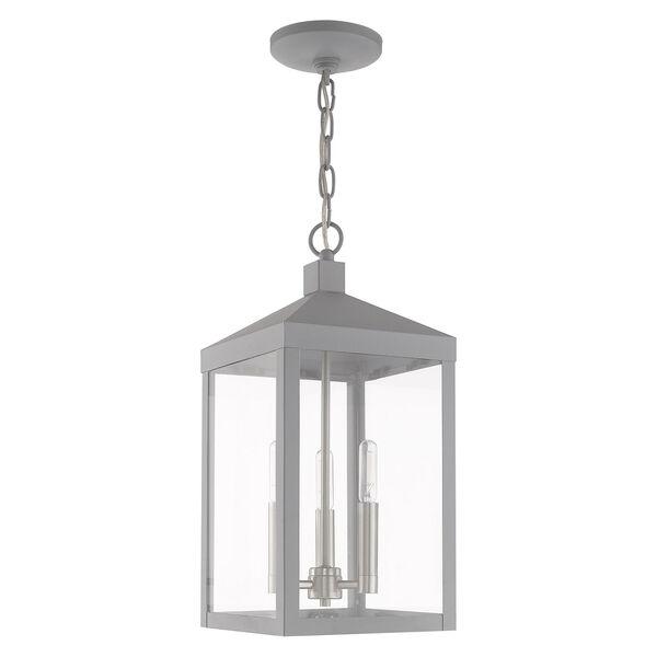 Nyack Nordic Gray Eight-Inch Three-Light Pendant Lantern, image 2