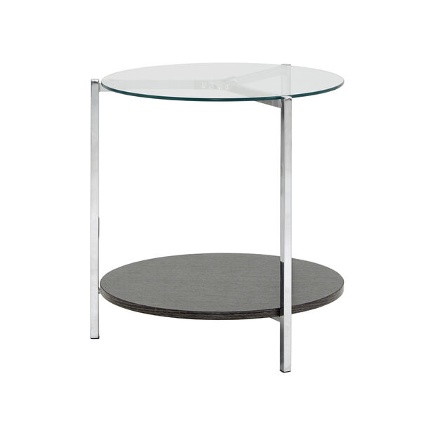 Alexia Chrome End Table with Glass Top, image 5