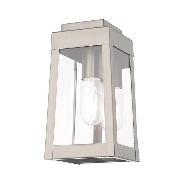 Oslo Brushed Nickel 5-Inch One-Light Wall Lantern, image 4