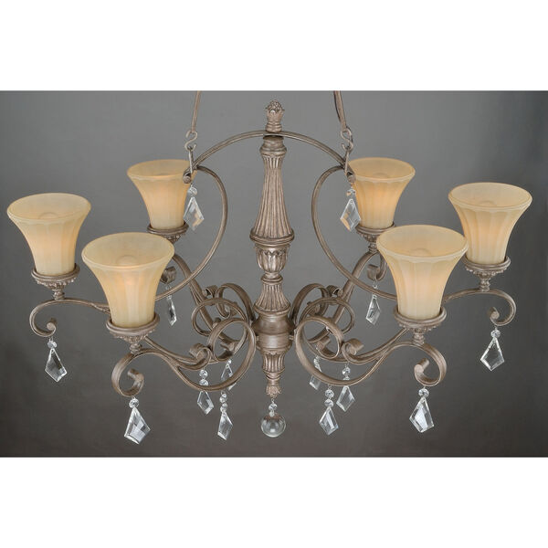 Avenant French Bronze 36.5-Inch Six-Light Chandelier, image 2