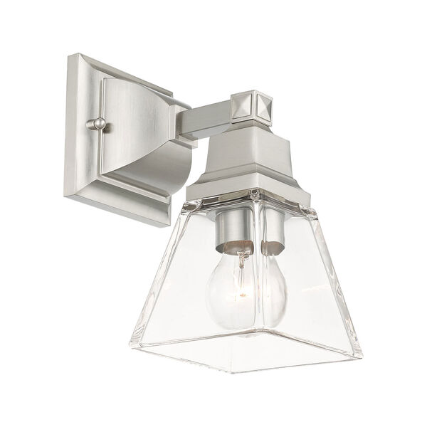 Mission Brushed Nickel One-Light Wall Sconce, image 4