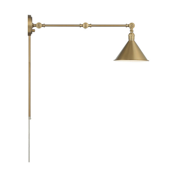 Delancey Brass Polished One-Light Adjustable Swing Arm Wall Sconce, image 3