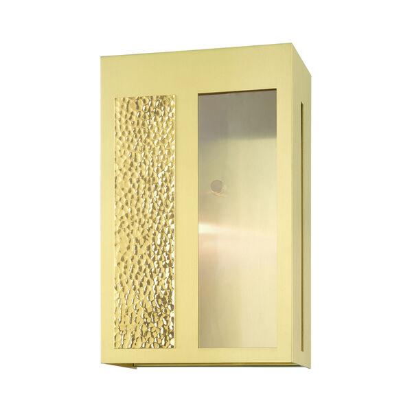 Lafayette Satin Brass One-Light Outdoor Wall Lantern, image 3